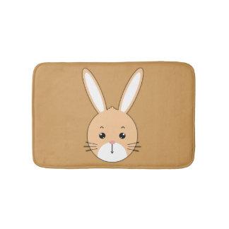 Rabbit face bath mat