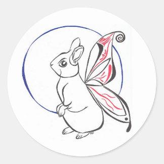 Rabbit Faerie Round Stickers