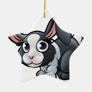 Rabbit Farm Animals Cartoon Character Christmas Ornament
