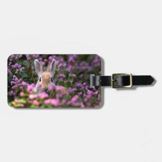 Rabbit farm luggage tag
