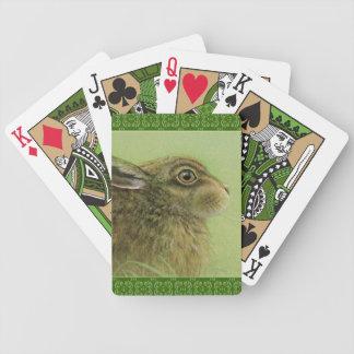 Rabbit fine art playing cards