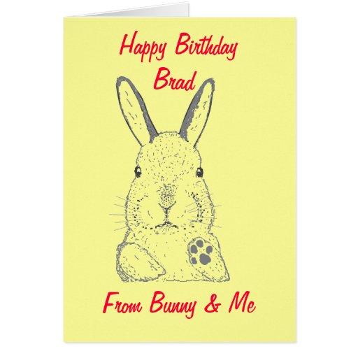 Rabbit Happy Birthday Card