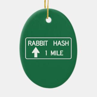 Rabbit Hash, Road Marker, California, US Christmas Ornament