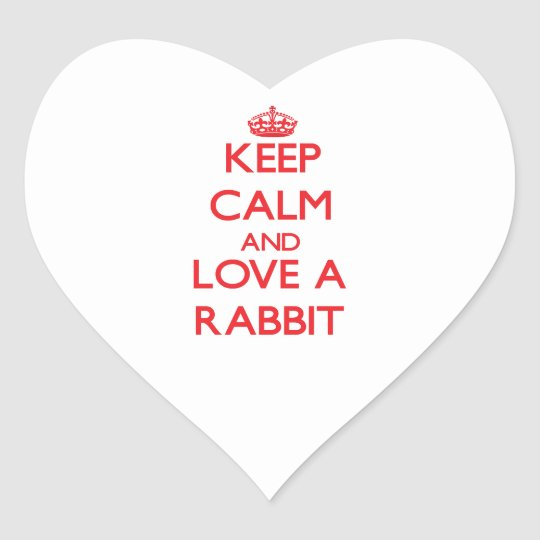 Rabbit Heart Sticker
