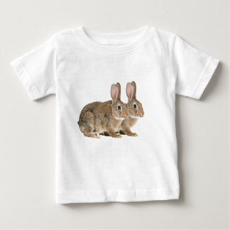 Rabbit image for Baby Fine Jersey T-Shirt, White Baby T-Shirt