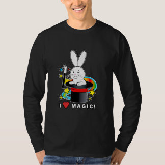 Rabbit in a Hat: I Love Magic! T-Shirt