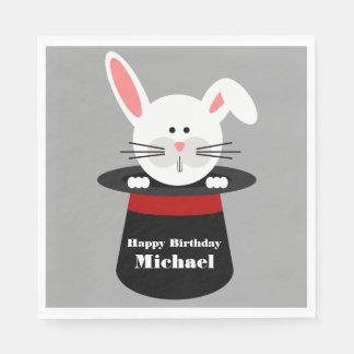 Rabbit In a Hat Magician Birthday Napkins Paper Serviettes