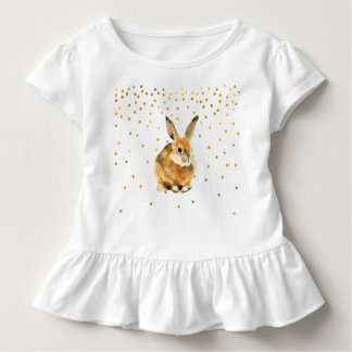 Rabbit in a Shower of Golden Polka Dots Toddler T-Shirt
