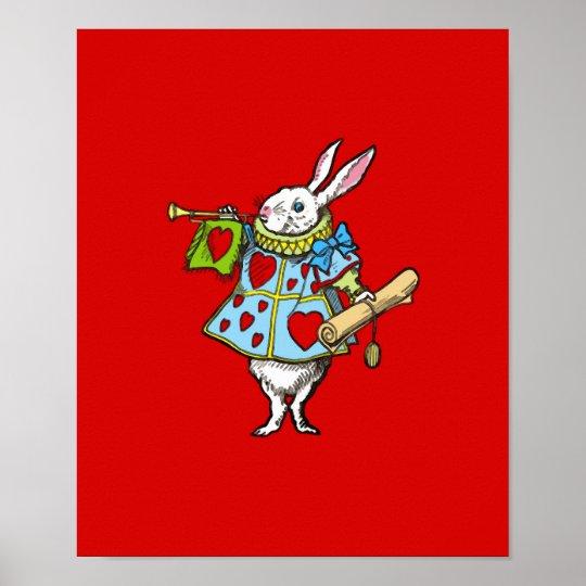 Rabbit in Alice in Wonderland ~ Print Poster