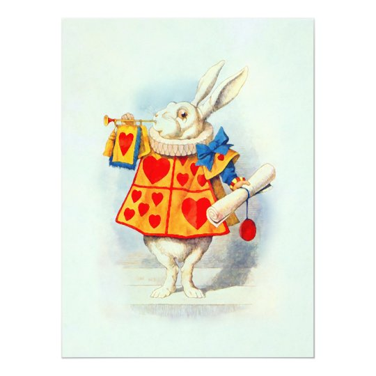 Rabbit in Alice Wonderland ~ Invitation