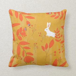 rabbit in autumn cushion
