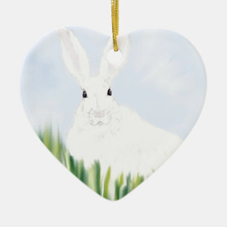 RABBIT IN THE FIELD CHRISTMAS ORNAMENT