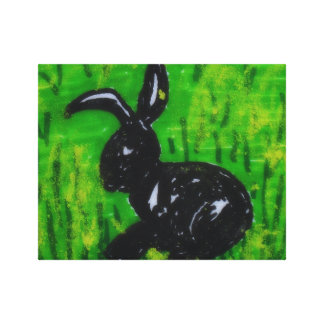 Rabbit in the Grass Canvas Print