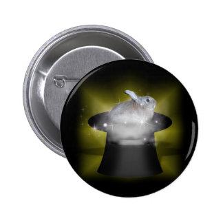 Rabbit  in the Magic Hat 6 Cm Round Badge