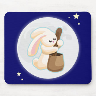Rabbit in the Moon Mouse Mat
