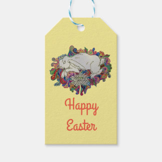rabbit jumps daisy gift tags