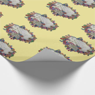 rabbit jumps daisy gift wrap