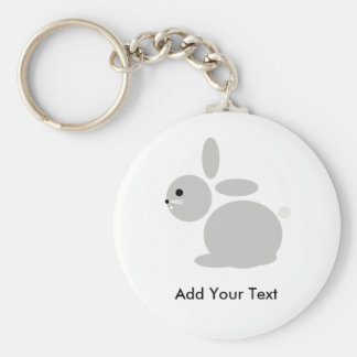 Rabbit Keyring from TookiesTs Basic Round Button Key Ring