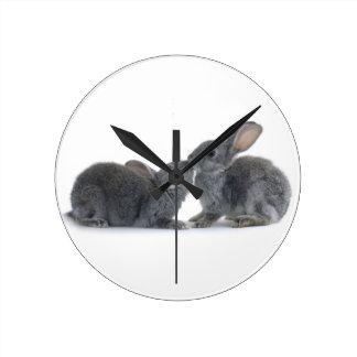 Rabbit Kiss Clock