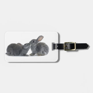 Rabbit Kiss Luggage Tag