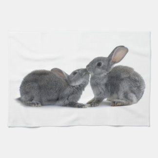 Rabbit Kiss Tea Towel