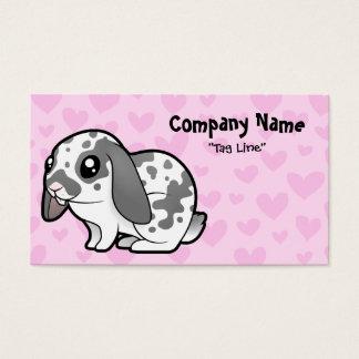 Rabbit Love (floppy ear smooth hair) Business Card