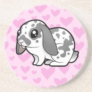 Rabbit Love (floppy ear smooth hair) Coaster
