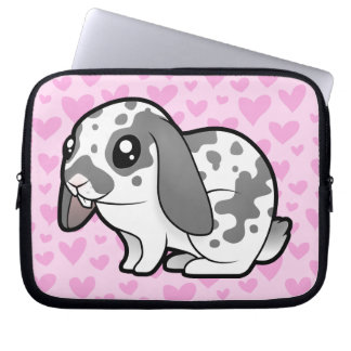 Rabbit Love (floppy ear smooth hair) Laptop Sleeves