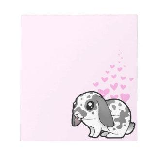 Rabbit Love (floppy ear smooth hair) Notepad