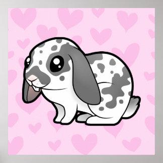 Rabbit Love (floppy ear smooth hair) Poster