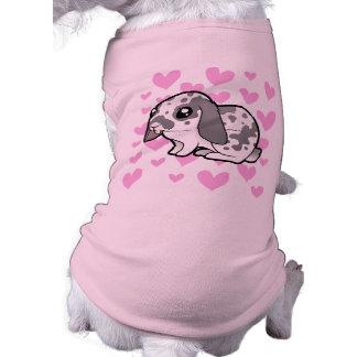 Rabbit Love (floppy ear smooth hair) Sleeveless Dog Shirt