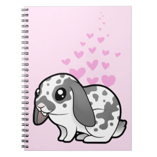 Rabbit Love (floppy ear smooth hair) Spiral Note Book