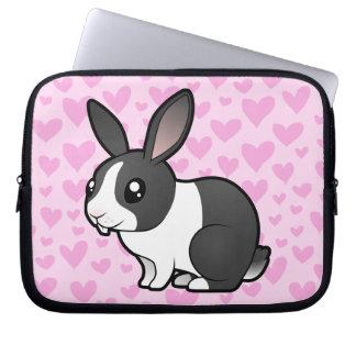 Rabbit Love (uppy ear smooth hair) Laptop Sleeve