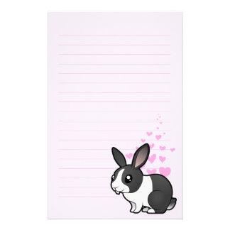 Rabbit Love (uppy ear smooth hair) Stationery