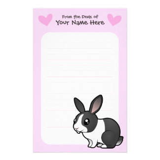 Rabbit Love (uppy ear smooth hair) Stationery