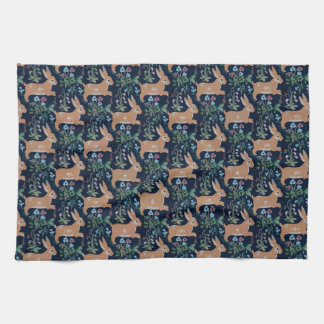"Rabbit medieval tapestry Kitchen Towel 16"" x 24"""
