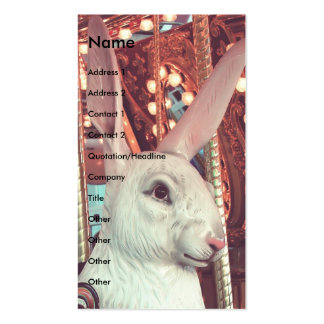 Rabbit Merry-Go-Round Double-Sided Standard Business Cards (Pack Of 100)