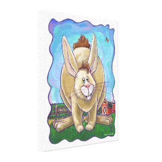Rabbit Party Center Canvas Print