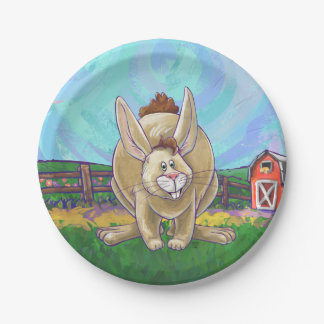 Rabbit Party Center Paper Plate