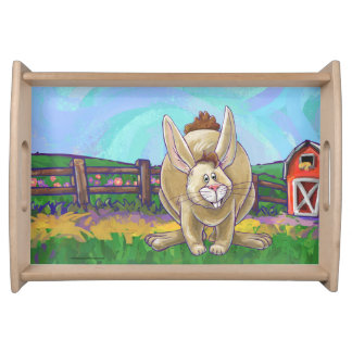 Rabbit Party Center Serving Tray