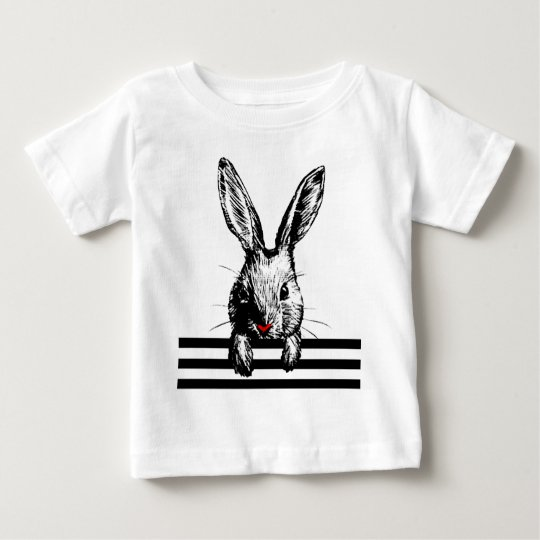rabbit picture stripe baby T-Shirt