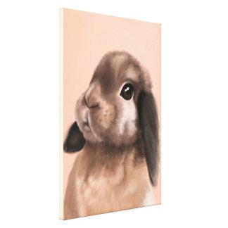 Rabbit portrait canvas print