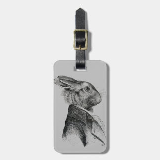 Rabbit Portrait Profile Luggage Tag