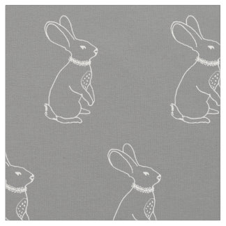 Rabbit Print Fabric