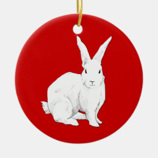 Rabbit red Ornament