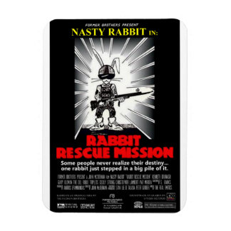 Rabbit Rescue Mission movie poster magnet