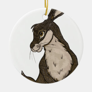 Rabbit Round Ceramic Decoration