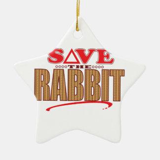 Rabbit Save Christmas Ornament