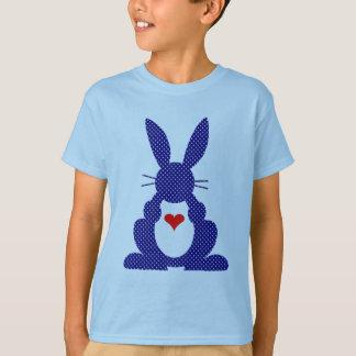 Rabbit Silhouette, Blue Background White Stars. T-Shirt