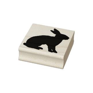 Rabbit Silhouette Rubber Stamp